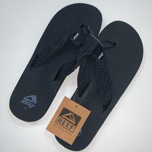 Men's black reef flip flops
